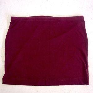 H&M | Basic Maroon Bodycon Stretch Mini Skirt